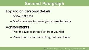 how to write a letter asking for scholarship money pictures image titled write a letter asking for scholarship money step 18