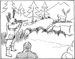 Small Picture Bow Hunting Coloring Online spesific Hunting Coloring Pages