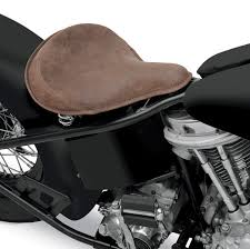 drag specialties large spring solo seat with distressed brown leather and perimeter stitched