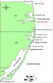 Location Map For Delmarva Peninsula Download Scientific