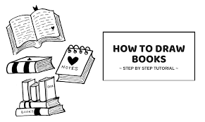 how to draw a book easy step by step