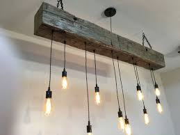 reclaimed barn beam chandelier