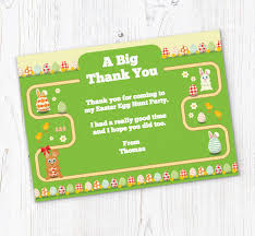 Thank You Easter Easter Egg Hunt Map Thank You Cards