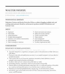 Resume For Customs And Border Protection Officer Customs And Border Protection Officer Resume Sample Livecareer
