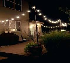 poles to hang string lights how to hang outdoor lights luxury patio string lights pole hang