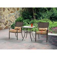 mainstays alexandra square 3 piece outdoor bistro set seats 2 com