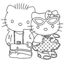 Small Picture print coloring image Hello kitty Kitty and Hello kitty coloring