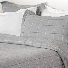 design port grey acton brushed cotton king size duvet cover