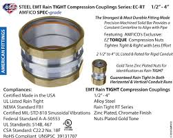 Emt Steel Fittings Made In The Usa By American Fittings