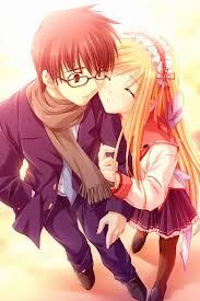 cute anime couple wallpaper 177434