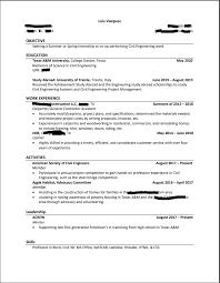 Civil Engineering Student Third Year Resume Feedback
