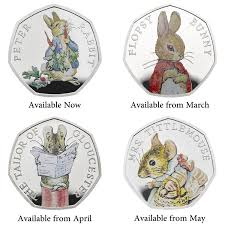 beatrix potter coloring pages best of peter rabbitâ 2018 uk 50p silver proof coin book gift set