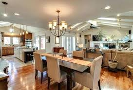 kitchen living room and dining room together living room dining kitchen combo com small