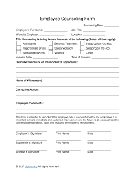 Employee Counseling Form Free Employee Counseling Form Word PDF eForms Free Fillable 1