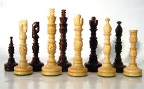 Wooden Game Pieces Bulk Indian Artistic Chess PiecesCarved Chess SetStorage Chess Box 6