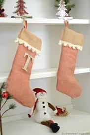 diy no sew burlap stocking stockedwithlove ad
