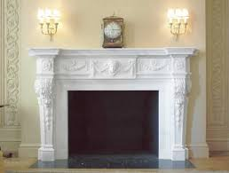antique statuary marble fireplace mantel