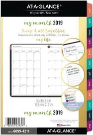 At A Glance Monthly Planner 2019 At A Glance Monthly Planner Refill January 2019 December 2019