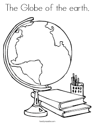 Small Picture The Globe of the earth Coloring Page Twisty Noodle