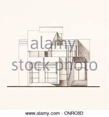 modern home architecture blueprints. Wonderful Blueprints Colored Architectural Blueprint Of Modern House Facade Drawn By Hand   Stock Photo For Modern Home Architecture Blueprints