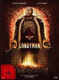His attire consists of a large, brown fur trenchcoat, a white cravat around his neck, gray pants, a pair of polished leather shoes, and a bloody hook in place of his right hand, which he uses to mutilate his victims. Candyman Blu Ray Dvd Im Mediabook Cover C Turbine Shop