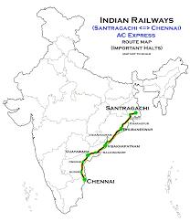 Santragachi chennai ac express route map