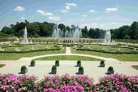 photo longwood gardens beautiful landscape with innovative water features and fountains walk paths shrubs
