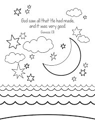Creation Bible Coloring Page Free Download Great Part Of The