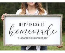 housewarming gift family name sign