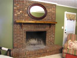 Red brick fireplace makeovers