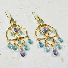 amelie chandelier earrings apatite iolite