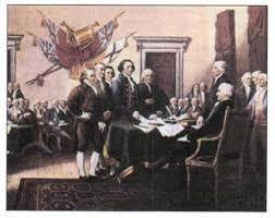 Война за независимость и образование США Новая история Реферат  Подписание Декларации независимости