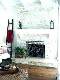 swinging faux rock fireplace surround painting fireplaces grey paint on white