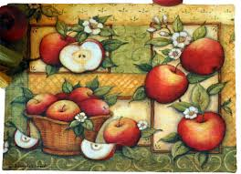 apple kitchen decor. apple kitchen accessories - kaydee designs collage placemat. decor e