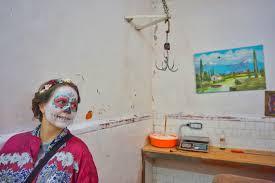 stadt des día de los muertos in mexiko