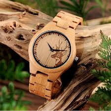 caribou maple wooden watch