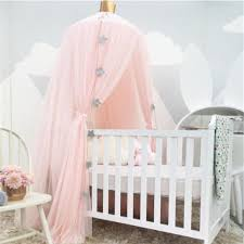 White Pink Gray Khaqi Princess Kids Crib Canopy, Nursery Canopy Bed Canopies,  Play Room