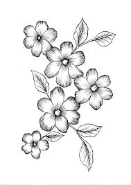 Flowers With Designs Wild Flowers Pdf Coloring Page Easy Flower Drawings