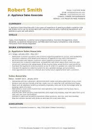 Sales Associate Resume New Appliance Sales Associate Resume Samples QwikResume