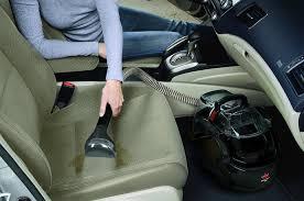 vacuuming car seats