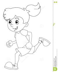 Formation D Enfant De Bande Dessin E Fille Page De Coloration