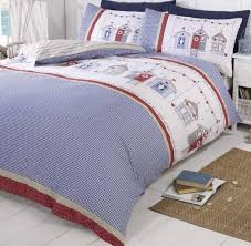 red blue and white duvet cover