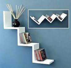 zig zag wall shelf yellow corner