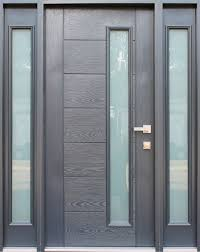 fiberglass gray stained glass entry door with two sidelites contemporary front doors by ville doors