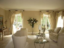 living room curtains with valance. Pole Swags, Jabots, And Panels In Formal Living Room Curtains With Valance