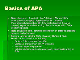Basics Of Apa 6th Citation Style Ppt Download