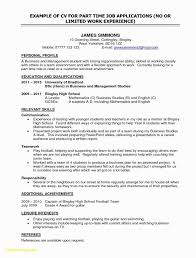 Free English Cv Templates Also Luxury Resume For College Student