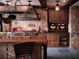 Rustic Kitchen Floor Tiles Kitchen Beauty Rustic Kitchen Inspiration With Brown Wood