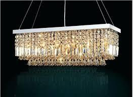 led modern rectangular crystal chandelier light fixture pendant intended for prepare mid century rectangle pottery barn