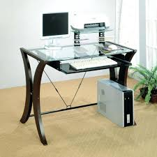 31 glass computer desk with drawers europa black glass computer with regard to glass top desks